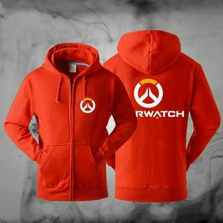 Hoodies Overwatchs Cosplay Thickening Hooded Jacket - Red