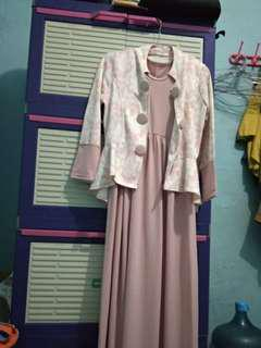 Long dress with cardi