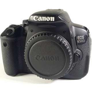 Canon EOS 650D 盒裝 保卡 說明書 背帶 充電器 原電池1 公 (CB073)