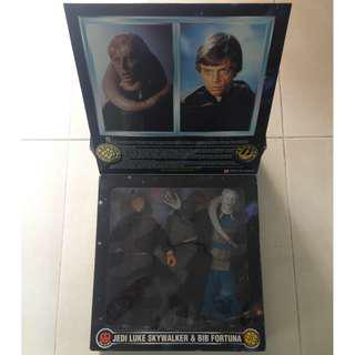 "Kenner Star Wars (Collector Series) 1/6th Scale 12"" Action Figure (1997) LUKE JEDI & BIB FORTUNA"