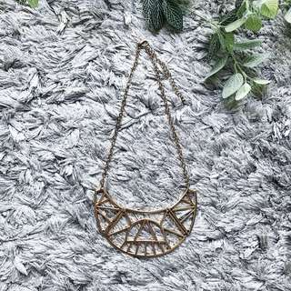 F21 Gold Statement Necklace