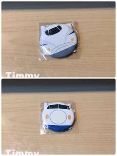 Yujin T-Art 扭蛋火車 扭蛋車 鐵路 鐵道模型 0系 N700系 新幹線 襟章