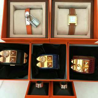 Hermes, bangle CDC, wallet and ring