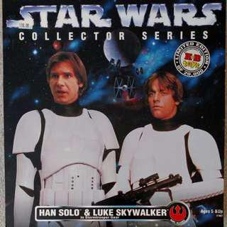 "Kenner Star Wars (Collector Series) 1/6th Scale 12"" Action Figure (1996) HAN SOLO & LUKE SKYWALKER (In Stormtrooper Gear)"