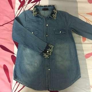 Pre❤️ Lace Jeans / Denim Shirt #Ramadan50