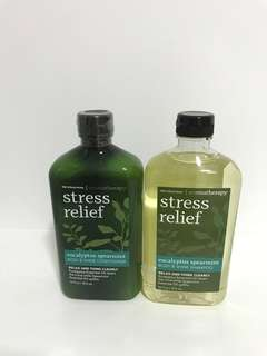 Stress relief shampoo and conditioner