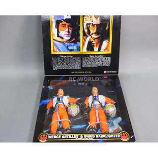"Kenner Star Wars (Collector Series) 1/6th Scale 12"" Action Figure (1998) WEDGE ANTILLES & BIGGS DARK"