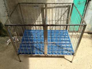 Dog cage stainless collapsible