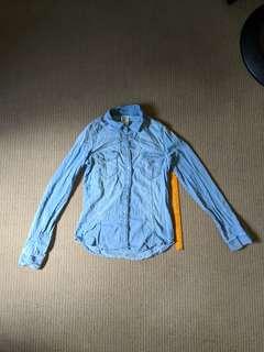 H&M denim polo shirt