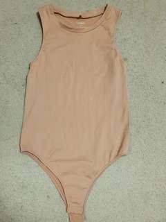 Nude ribbed bodysuit