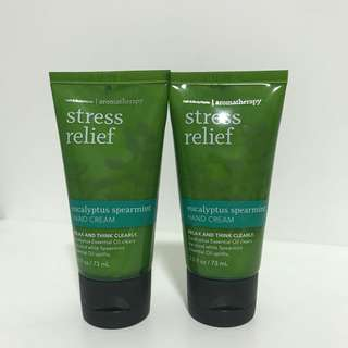 Stress relief hand cream