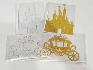 Princess castle/ Carriage cake topper decoration for party