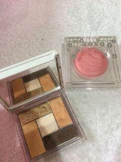 eyeshadow/blush on