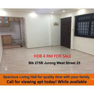 Spacious, High Floor HDB 4 Rm for sale. Motivated Seller