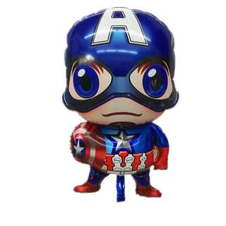 Baby Captain America Foil material balloon