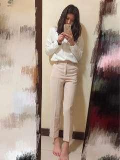 🚚 米白&粉咖西裝褲