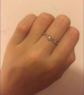 PN 9k白金鑽石戒指 12.5圈 有單有盒