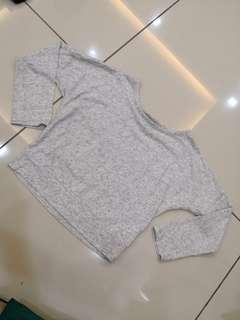Baby Gap Plain Grey Top (6-7t)