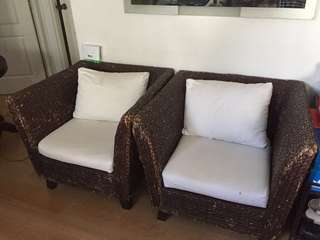 Rustic one-seater pair