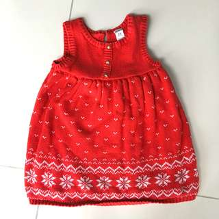 Carters' Red Hearts Knitted Dress