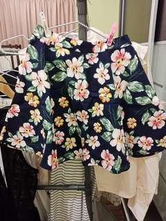 Korea Premium Floral Skater Skirt