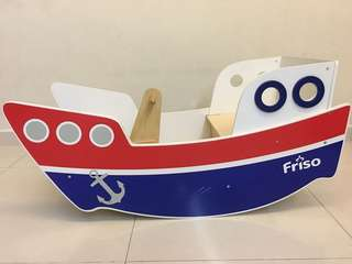 Friso Wooden Rocking Boat