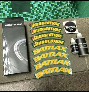 Tire/stick/sticker ban bridgestone vespa LX/S/primavera/sprint