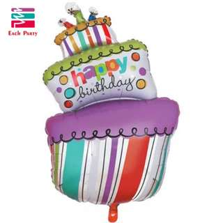 Birthday cake good material foil balloon