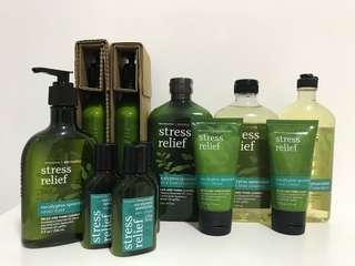 Stress relief eucalyptus spearmint set
