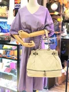 ✨90%new Chanel 11字頭 小羊皮 shoulder bag✨