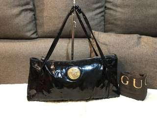 Authentic Gucci Patent Hobo with dustbag