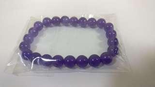 天然深紫玉髓單圈手鍊8mm