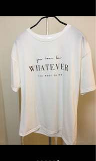 🚚 Whatever 白色軟料上衣