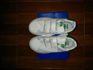 ADIDAS STANSMITH KIDS VELCRO WHITE GREEN