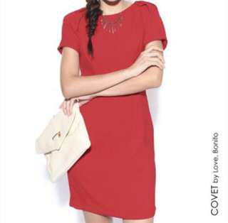 Love Bonito Red Covet Dress