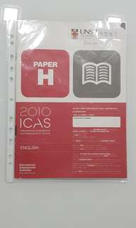 ICAS 2010 ENGLISH PAPER H FOR SECONDARY 3