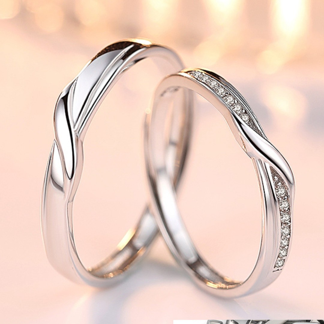 925 Sterling Silver Love you still couple rings, Women\'s Fashion ...