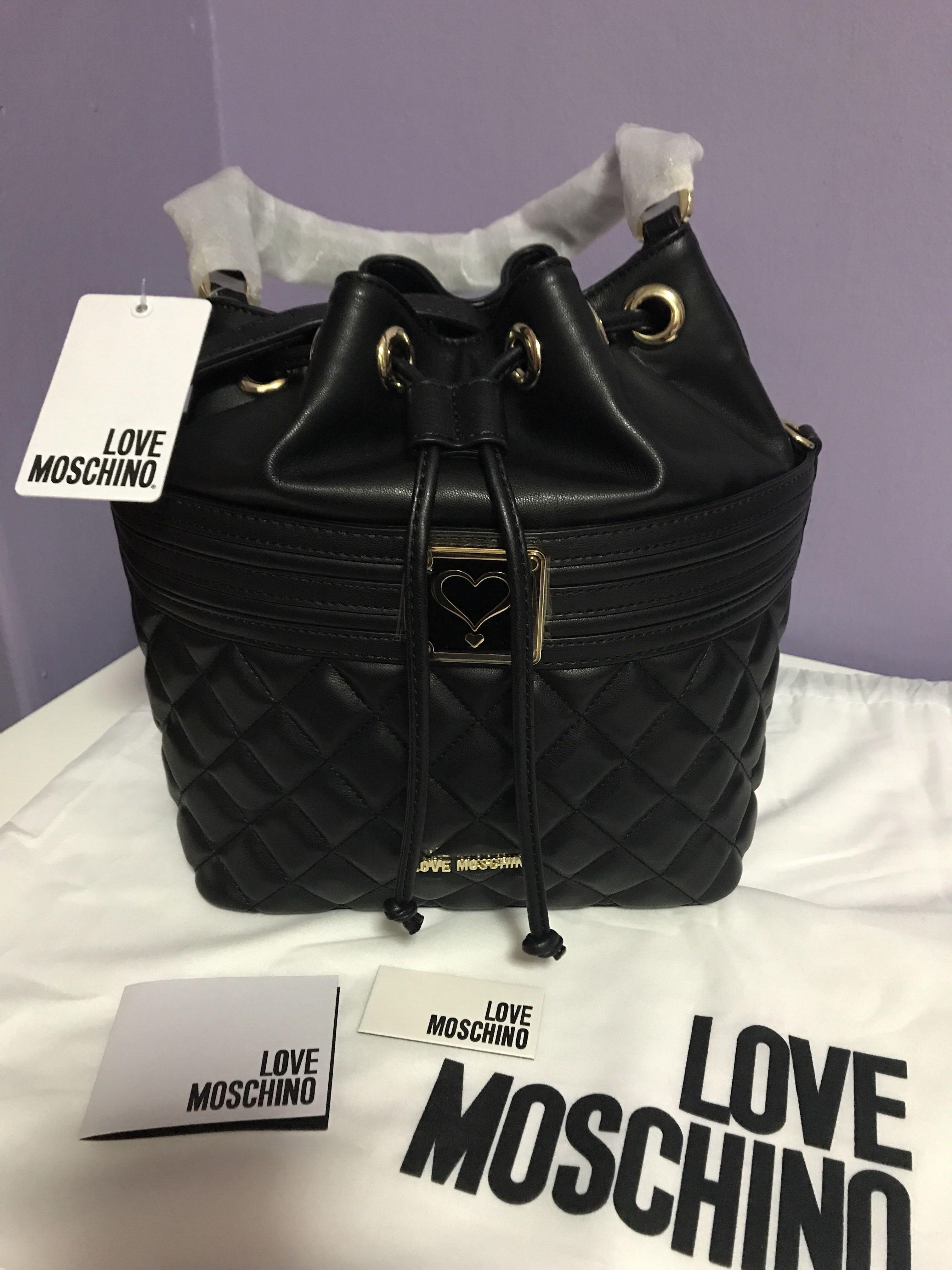 45e5c1ef7 Pending ] Love Moschino Bucket Bag, Luxury, Bags & Wallets, Handbags ...