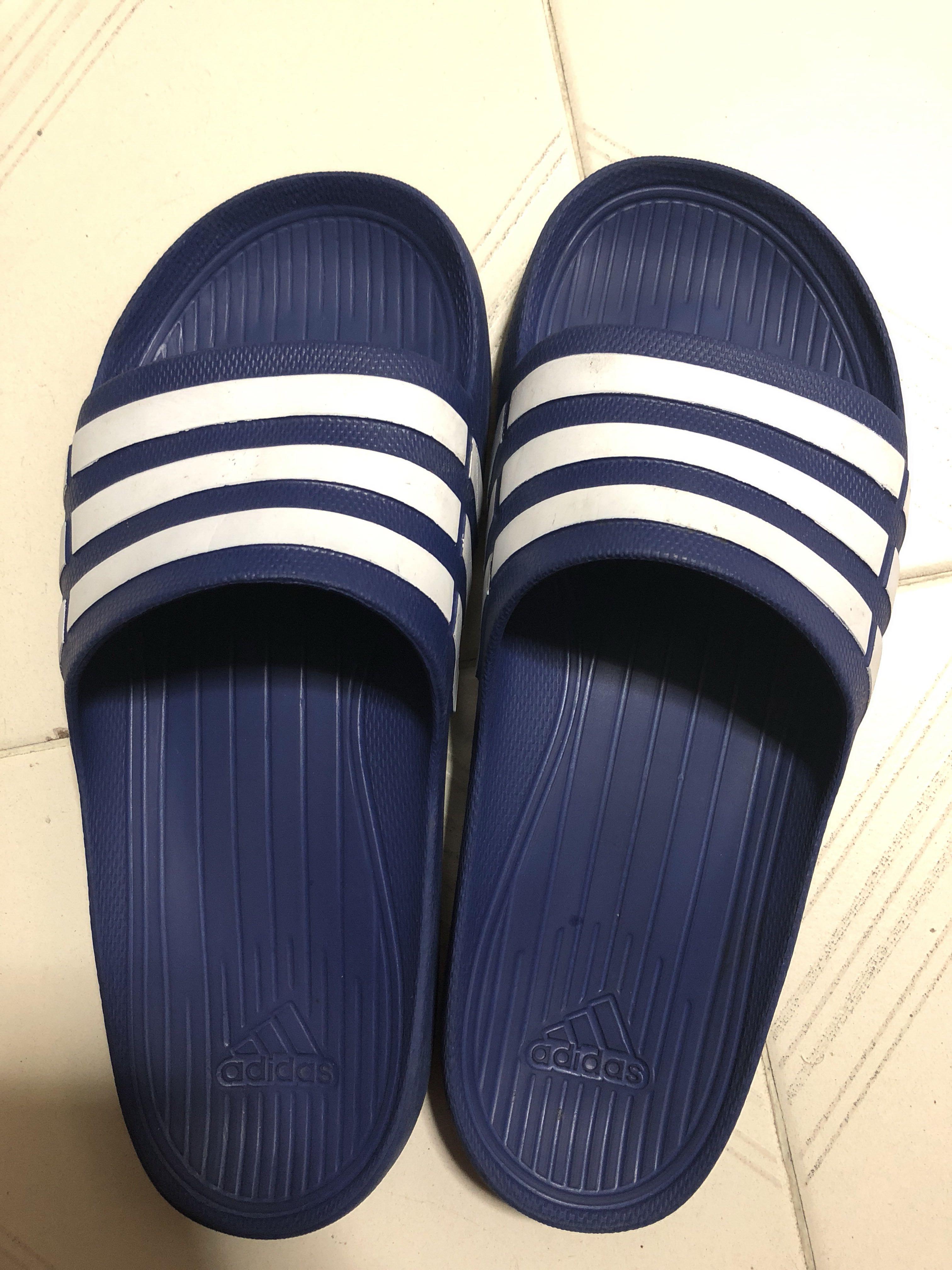 abd81173888 Adidas Duramo Slides (Blue White)
