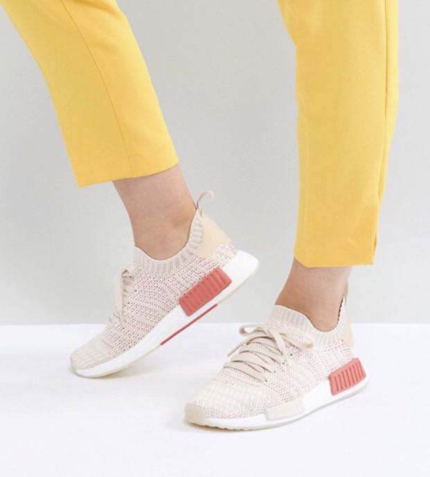 a9b3b5f9523d3 adidas Originals NMD R1 Stealth Primeknit Trainers In Off White ...