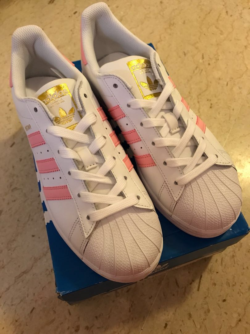info for b46e5 64c64 ... clearance adidas superstar white pink gold womens fashion shoes  sneakers on carousell b0fb8 dcc02