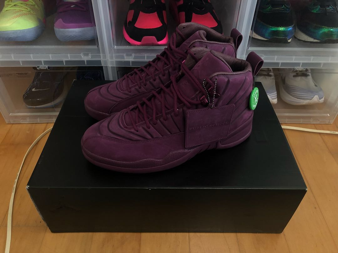 a0579f32318 Air Jordan 12 PSNY Bordeaux US10.5, Men's Fashion, Footwear ...