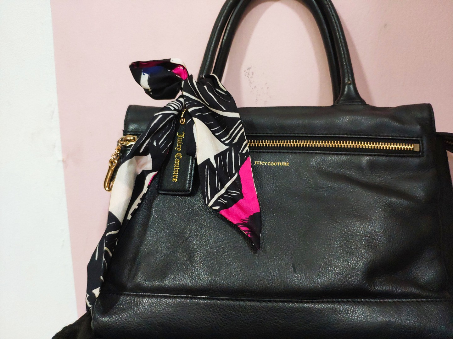 Authentic Juicy Couture Leather Handbag Luxury Bags Wallets Handbags On Carou