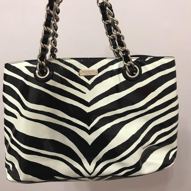 3692fc17a3ce Authentic Kate Spade Zebra Tote  sale
