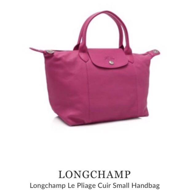Authentic Longchamp Le Pliage Cuir Small, Luxury, Bags   Wallets, Handbags  on Carousell 67d8d6409a