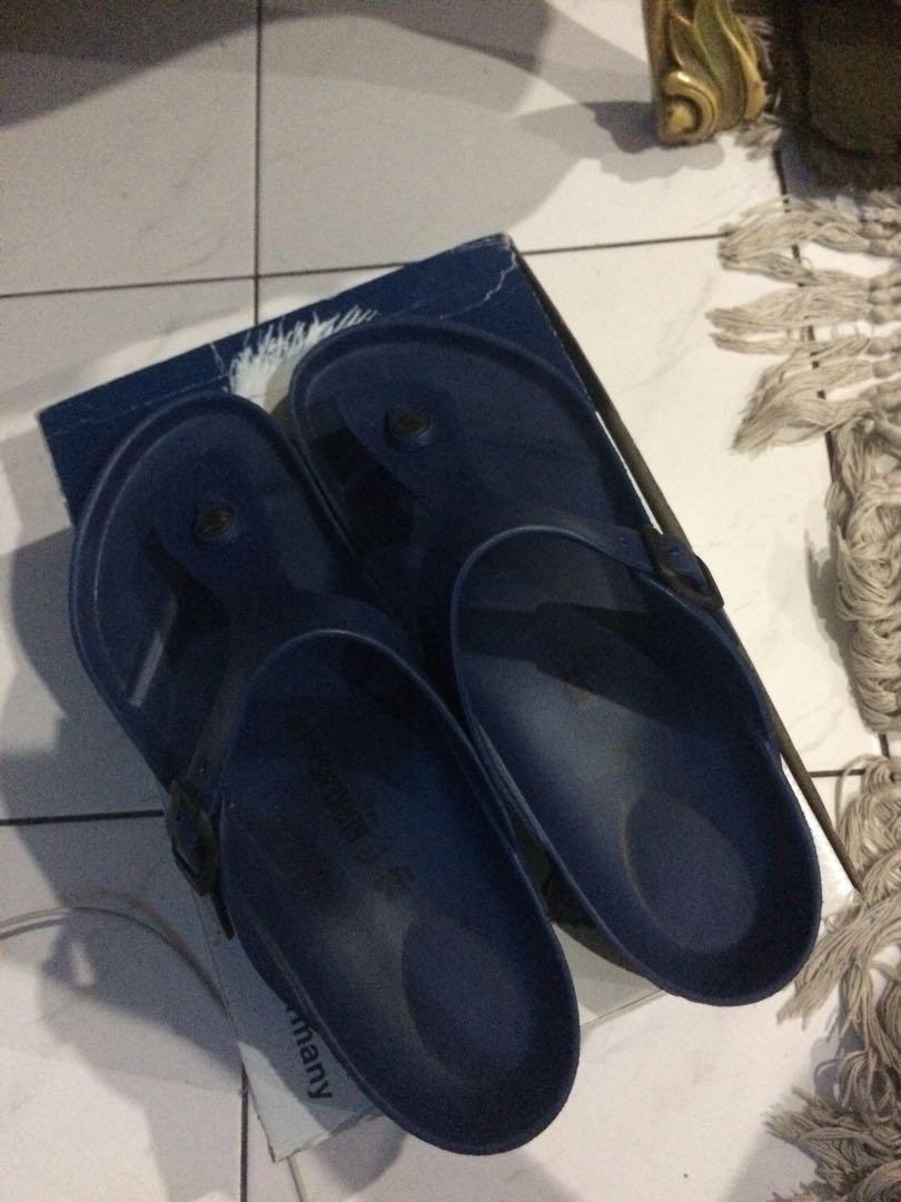 Birkenstock Blue Sandals Preloved Fesyen Pria Sepatu Di Carousell