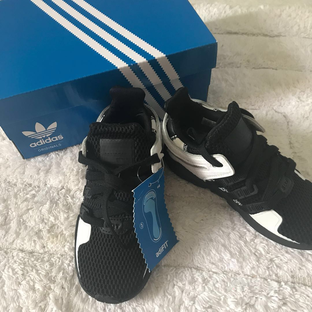 info for dce39 688f9 BN Adidas Kids Toddler EQT Support Sneakers Black/White US9/UK8.5 available!