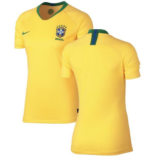 BNWT Women s Brazil Soccer Jersey (World Cup 2018) d1f1d7217