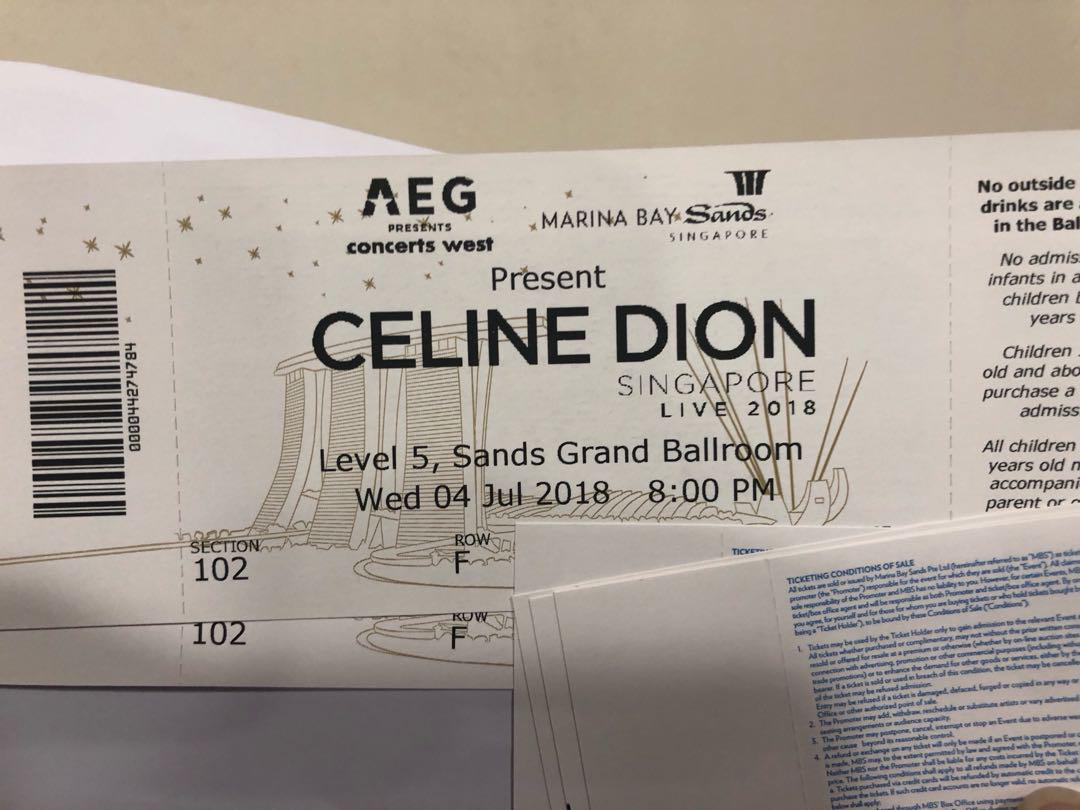 Celine Dion Vip Tickets Entertainment Events Concerts On