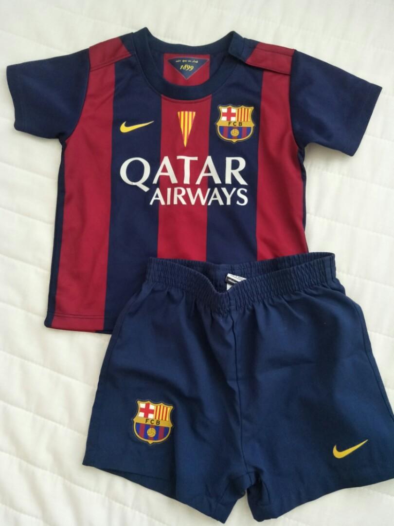 10b981a6fc3 EEEEUC  FCB soccer jersey set (6-9mo)